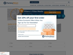 factorydirectfilters.com screenshot