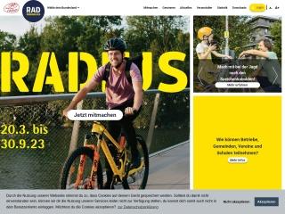 Screenshot der Website fahrradwettbewerb.at