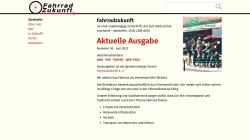 www.fahrradzukunft.de Vorschau, Fahrradzukunft
