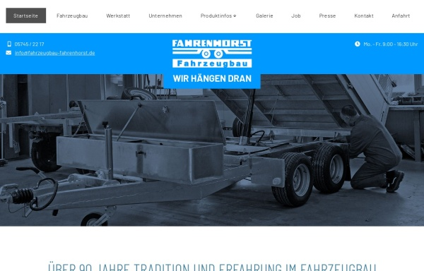 Vorschau von www.fahrzeugbau-fahrenhorst.de, Fahrenhorst Fahrzeugbau GmbH & Co. KG
