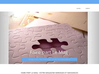 Capture d'écran pour faire-part-lemag.fr
