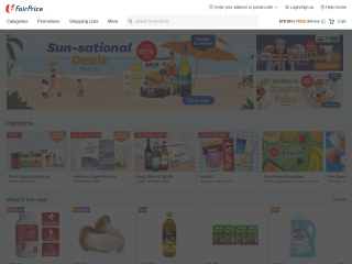 Screenshot for fairprice.com.sg