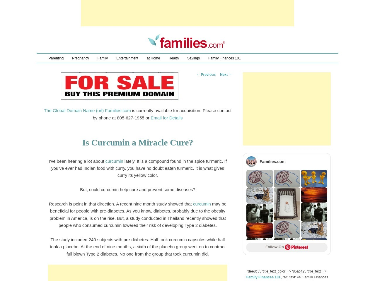 Is Curcumin a Miracle Cure? Health Families.com