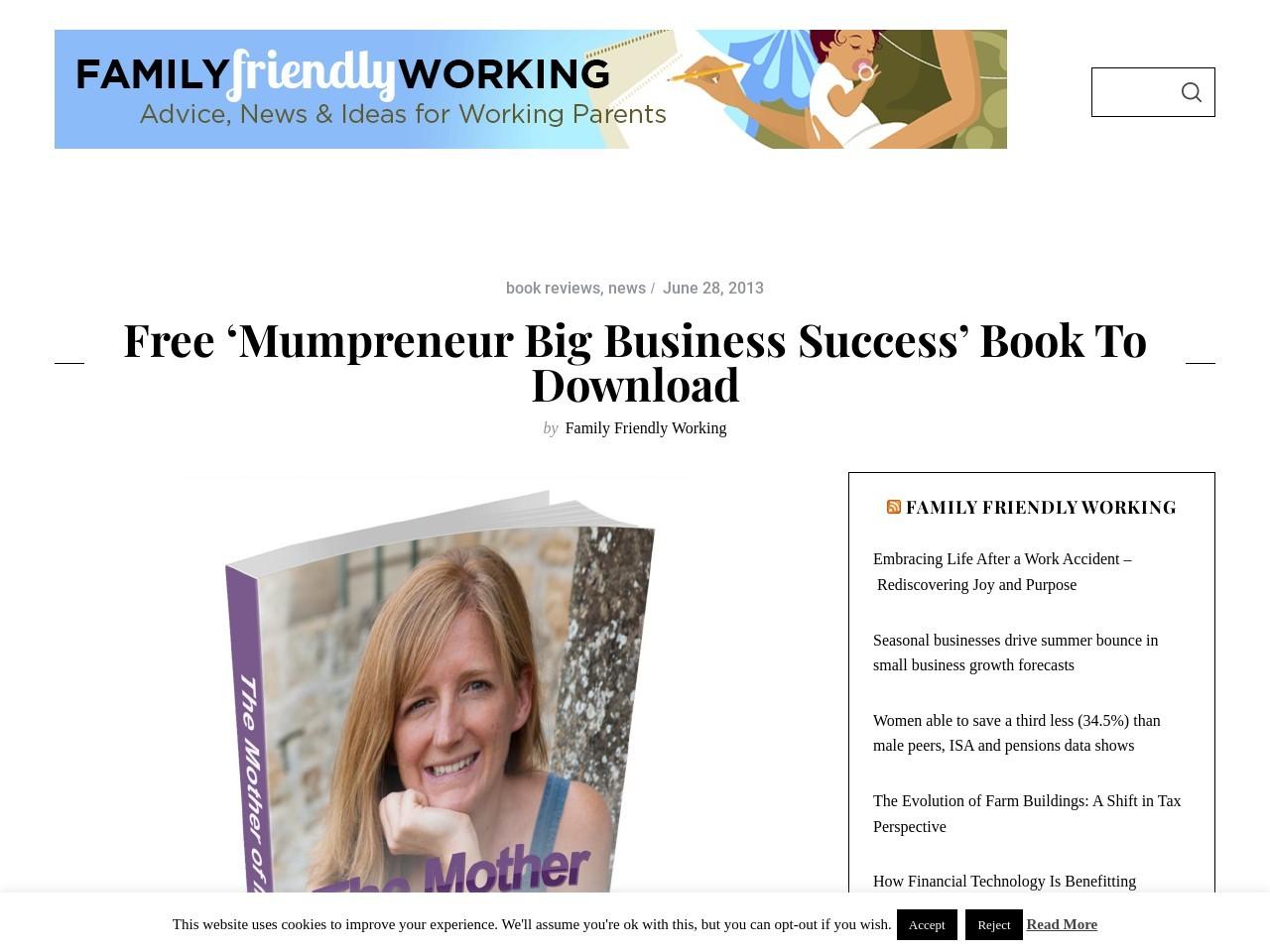 Free 'Mumpreneur Big Business Success' book to download | Family …
