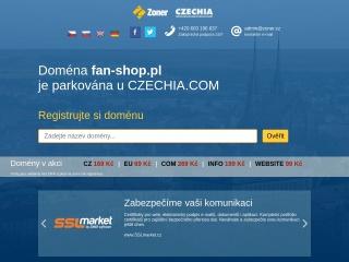 Zrzut ekranu strony fan-shop.pl