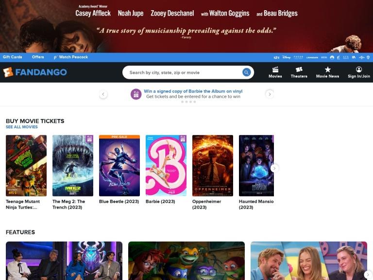 Fandango screenshot
