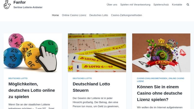 www.fanfor.de Vorschau, Fanfor