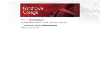 Screenshot for fanshawec.on.ca