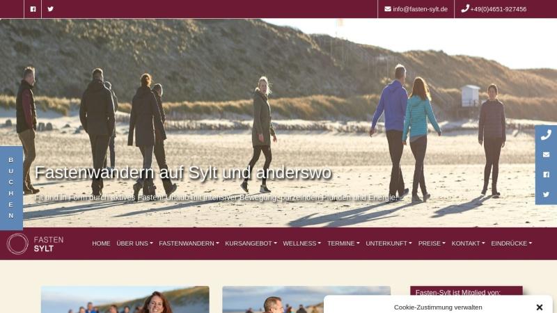 www.fasten-sylt.de Vorschau, Fasten Sylt