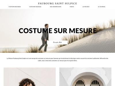 Costume sur-mesure Faubourg Saint Sulpice
