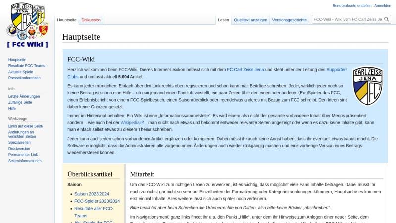 www.fcc-supporters.org Vorschau, Hauptseite - FCC-Wiki