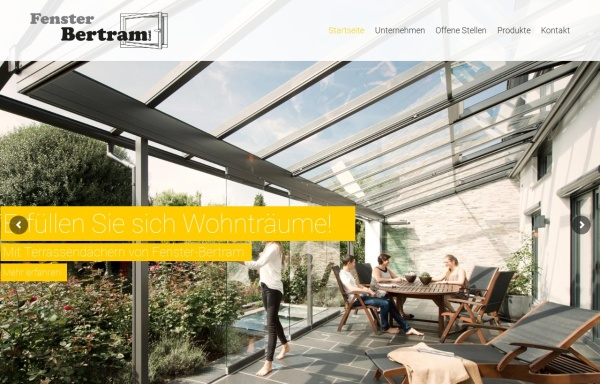 Vorschau von www.fenster-bertram.de, Fenster Bertram GmbH