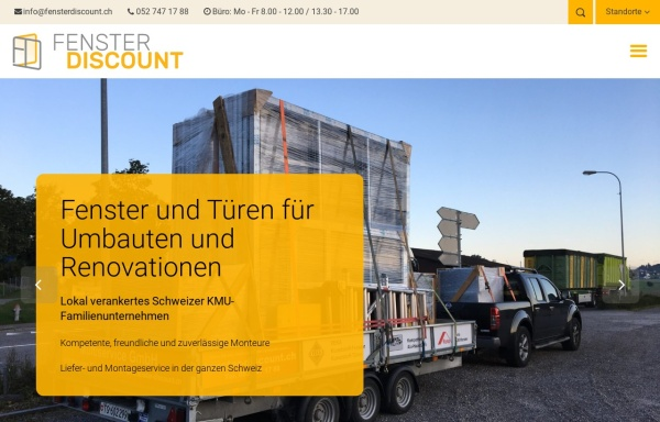 Vorschau von www.fenster-discount.ch, Fenster-Discount.ch, Multiservice Dienstleistungs GmbH