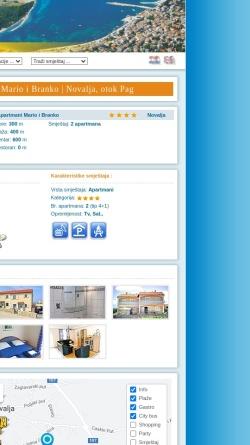 Vorschau der mobilen Webseite www.ferien-in-kroatien.de, Ferienhaus in Novalja