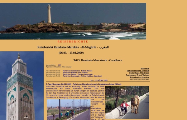 Vorschau von www.ferienhaus-ohrdruf.de, Reisebericht Rundreise Marokko 2009