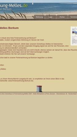 Vorschau der mobilen Webseite www.ferienwohnung-melles.de, Ferienwohnung Melles
