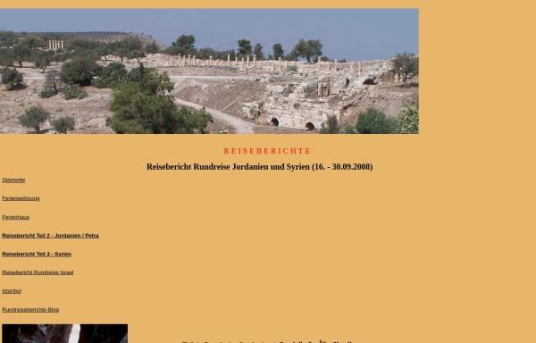 Vorschau von www.fewo-haarhausen.de, 7-Tage-Rundreise durch Jordanien 2008 [Susanne & Andreas Mauersberger]