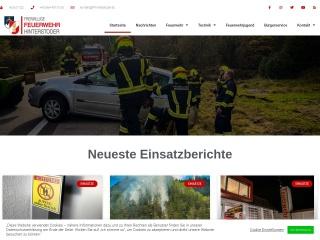 Screenshot der Website ff-hinterstoder.at
