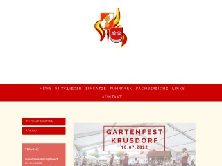 Screenshot der Website ff-krusdorf.at