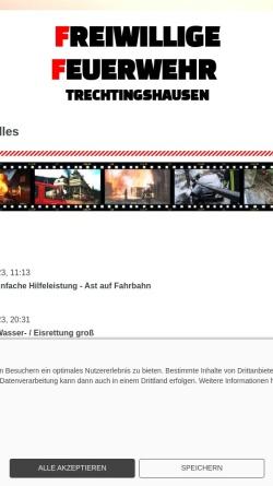 Vorschau der mobilen Webseite www.ff-trechtingshausen.de, Freiwillige Feuerwehr Trechtingshausen
