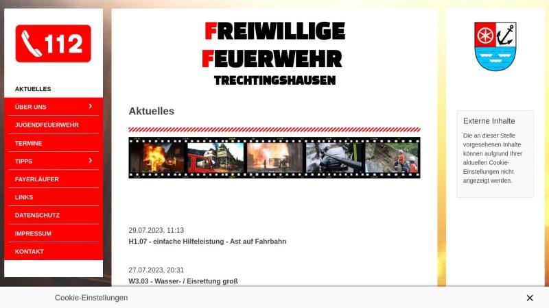 www.ff-trechtingshausen.de Vorschau, Freiwillige Feuerwehr Trechtingshausen