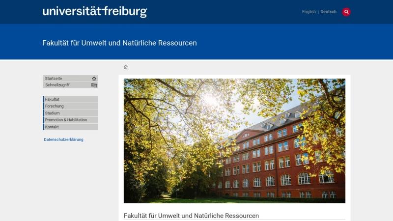 www.ffu.uni-freiburg.de Vorschau, Fakultät für Forst- und Umweltwissenschaften der Albert-Ludwigs-Universität
