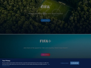 Screenshot der Website fifa.com