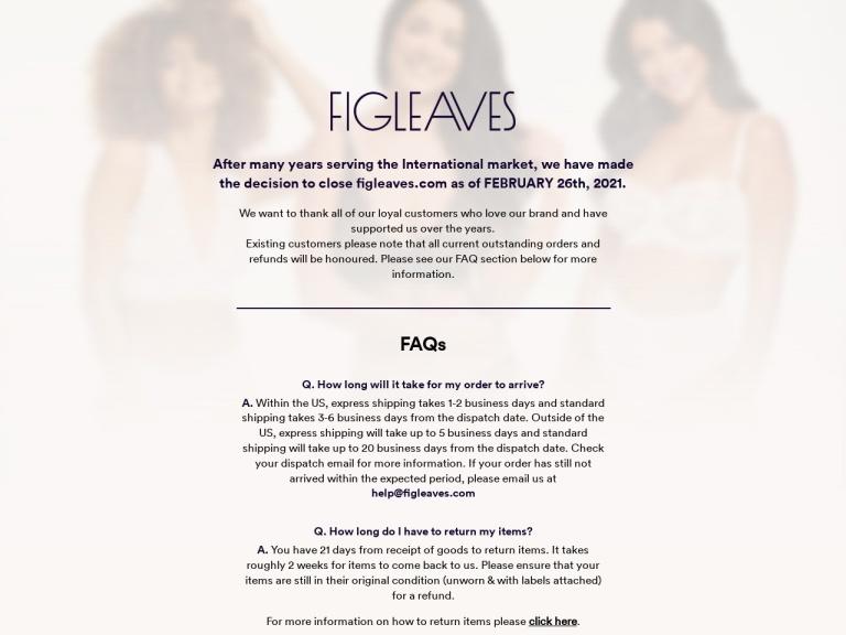 Figleaves US screenshot