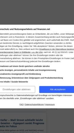 Vorschau der mobilen Webseite www.finanzen.net, Finanzen.net
