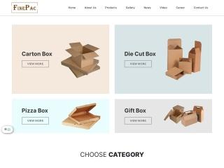 Screenshot bagi finepac.com.my