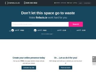 Screenshot for finfacts.com