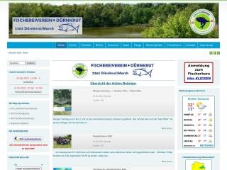 Screenshot der Website fischereiverein-duernkrut.at