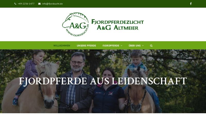www.fjordzucht.de Vorschau, Fjordpferdezucht Altmeier und Grafschmidt