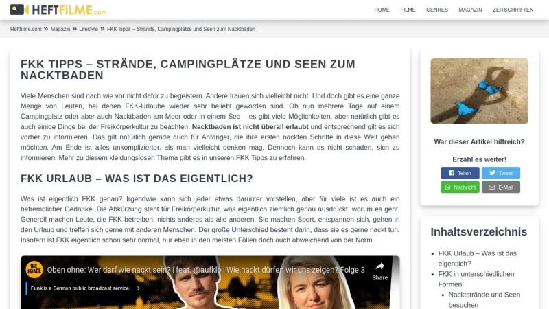 www.fkk-tipps.de Vorschau, FKK Tipps