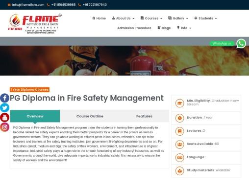 Certification in Fireman at Flameifsm Vasai (W)