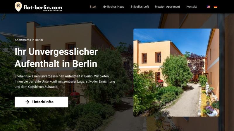 www.flat-berlin.com Vorschau, Flat Berlin, Marie-Louise von Löw