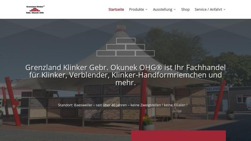 www.fliesen-klinker.de Vorschau, Grenzland Klinker Gebr. Okunek OHG