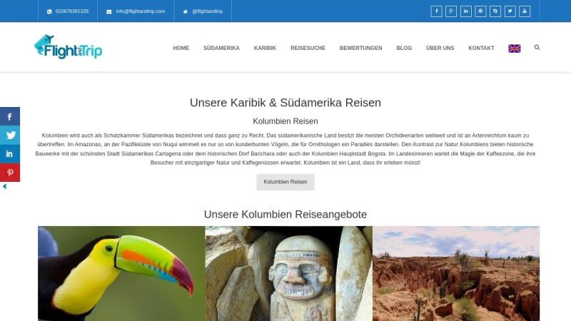 www.flightandtrip.de Vorschau, Flightandtrip, Nicky Richter