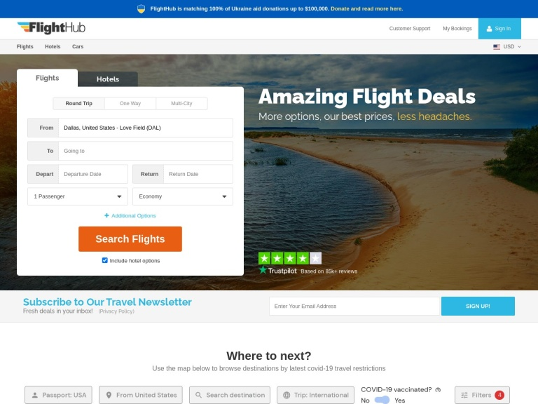 Flighthub screenshot