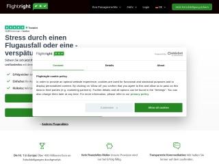 Screenshot der Website flightright.de