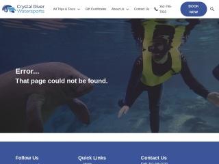 Screenshot for floridamanateetours.com