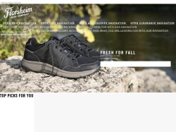 Florsheim.com screenshot