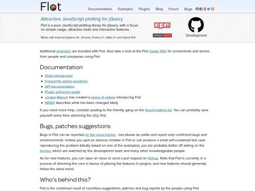 http://www.flotcharts.org/