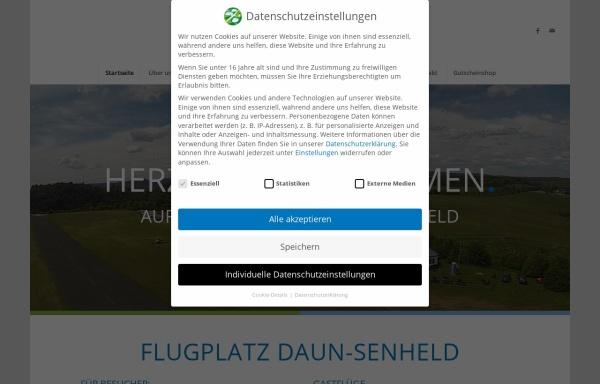 Vorschau von www.flugplatz-daun.de, Segelflugverein Vulkaneifel e.V. - Flugplatz Daun