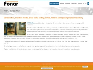 Screenshot stránky fonar.sk