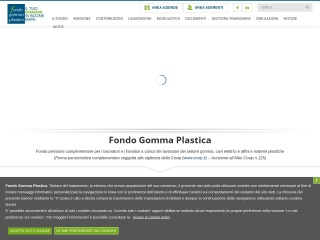 Screenshot del sito fondogommaplastica.it