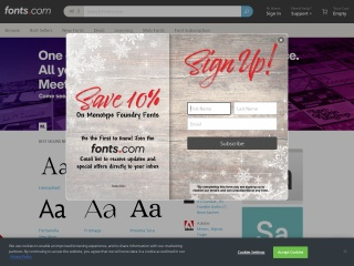 Screenshot for fonts.com