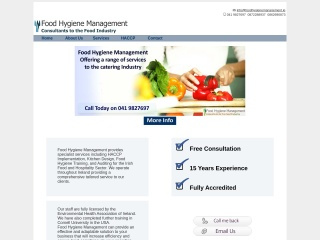 Screenshot for foodhygienemanagement.ie