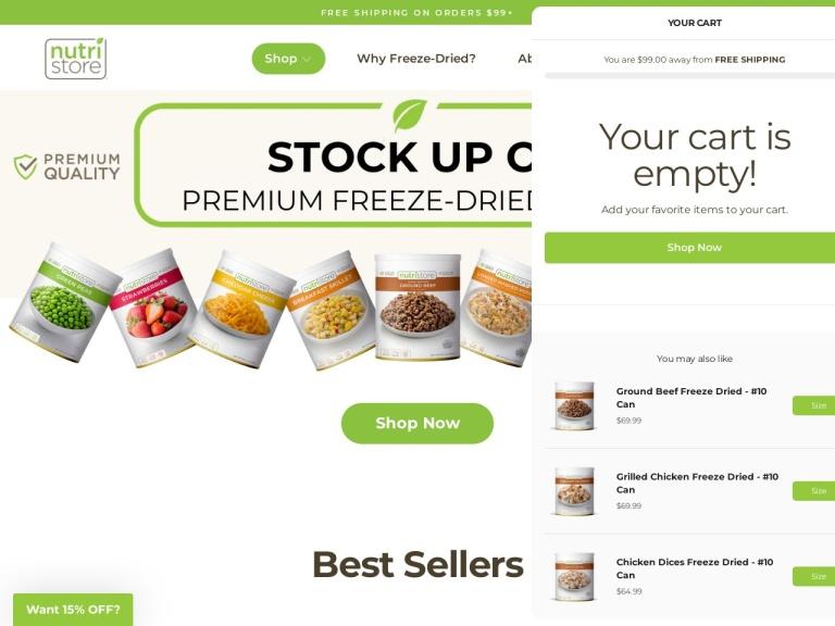 FoodStorage.com screenshot
