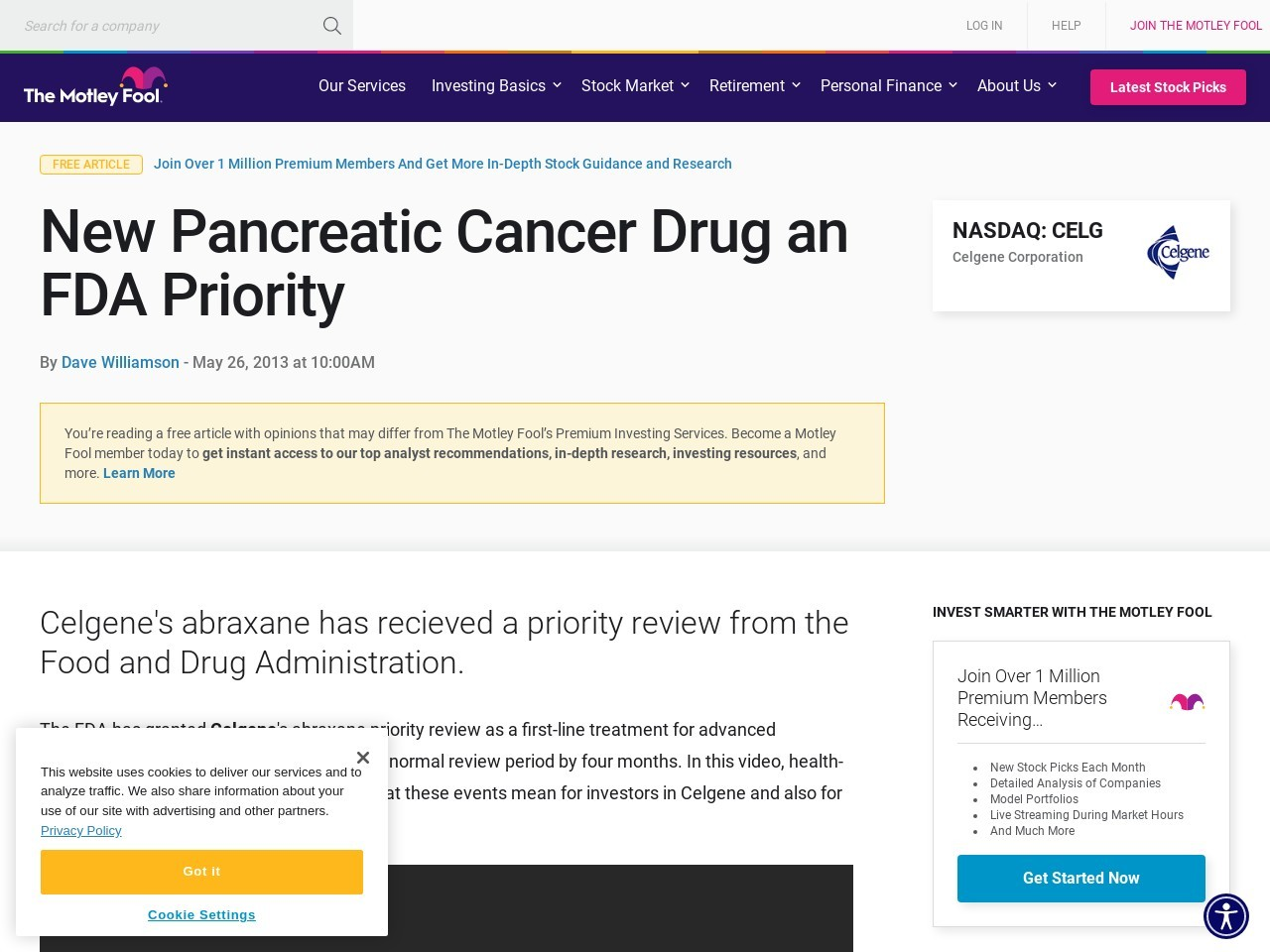 New Pancreatic Cancer Drug an FDA Priority